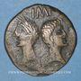 Coins Auguste et Agrippa. Dupondius. Emission de 16 - 10 avant J-C, imitiation gauloise locale