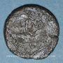 Coins Auguste et Agrippa. Dupondius. Nîmes, 10 - 14 après J-C ; contremarqué DD