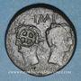 Coins Auguste et Agrippa. Dupondius. Nîmes, 16 - 10 avant J-C ; contremarques : rouelle et IMP