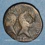 Coins Auguste et Agrippa. Dupondius. Nîmes, 16 - 10 avant J-C. Imitation locale contremarquée