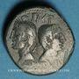 Coins Auguste et Agrippa. Dupondius. Nîmes, 9/8 - 3 avant J-C. Imitation gauloise