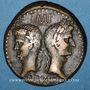 Coins Auguste et Agrippa. Dupondius. Nîmes, 9/8 - 3 avant J-C.