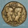 Coins Auguste et Agrippa. Imitation gauloise locale. Semis. 24,7 mm. 6,27 g.