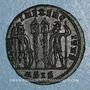 Coins Constance II, césar (324-337). Centenionalis. Siscia, 1ère officine. 330-333. R/: deux soldats