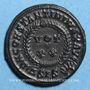 Coins Constantin I (307-337). Centenionalis. Siscia, 4e officine, 320-321. R/: couronne