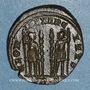 Coins Constantin I (307-337). Centenionalis. Trèves, 2e officine. 332-333. R/: deux soldats