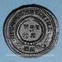 Coins Constantin I (307-337). Follis. Arles, 1ère officine, 323-324. R/: VOT / XX  dans une couronne