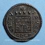Coins Constantin I (307-337). Follis. Arles, 1ère officine, 327-328. R/: porte de camp