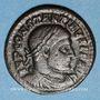 Coins Constantin I (307-337). Follis. Arles, 4e officine, 315-316. R/: le Soleil radié