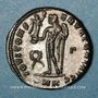Coins Constantin I (307-337). Follis. Cyzique, 3e officine, 317-318. R/: Jupiter