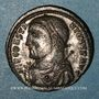 Coins Constantin I (307-337). Follis. Cyzique, 8e officine, 317-318. R/: Jupiter