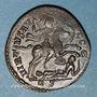 Coins Constantin I (307-337). Follis. Rome, 2e officine, 312-313. R/: l'empereur en habit militaire
