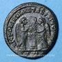Coins Constantin I (307-337). Follis. Ticinum, 3e officine, 318-319. R/: deux Victoires