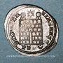 Coins Constantin I (307-337). Follis. Trèves, 1ère officine, 326. R/: porte de camp