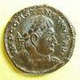 Coins Constantin I (307-337). Follis. Trèves, 2e officine, 316. R/: le Soleil