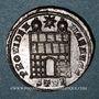 Coins Constantin I (307-337). Follis. Trèves, 2e officine, 327-328. R/: porte de camp