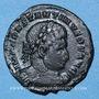 Coins Constantin I, (307-337). Follis, Trèves, 310-313. R/: buste casqué de Mars