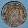 Coins Constantin I (307-337). Follis. Trèves, 310-313. R/: buste radié et drapé du Soleil