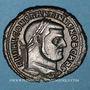 Coins Constantin I, césar (306-307). Follis. Carthage, 4e officine, 307. R/: l'Afrique debout à gauche