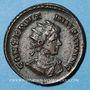 Coins Constantin II, césar (317-337). Follis. Londres, 1ère officine, 322-323. R/: globe posé sur un autel