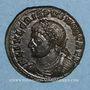 Coins Crispe, césar (317-326). Centenionalis. Thessalonique, 4e officine. 324. R/: couronne de laurier