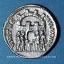 Coins Dioclétien (284-305). Argenteus. Siscia, 294-295. R/: les quatre princes sacrifiant