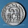 Coins Dioclétien (284-305). Argenteus. Siscia, 294-295. R/: les quatre princes