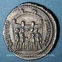 Coins Dioclétien (284-305). Argenteus. Ticinum, 295. R/: les quatre princes