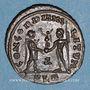 Coins Dioclétien (284-305). Bronze radié. Alexandrie, 1ère officine, 296-297. R/: Dioclétien