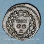 Coins Dioclétien (284-305). Bronze radié. Rome, 1ère  officine, 297-298. R/: VOT /XX / A