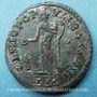 Coins Dioclétien (284-305). Follis. Lyon, 1ère officine, 304-305. R/: Génie