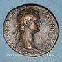 Coins Domitien (81-96). As. Rome, 90-91. R/: l'Equité debout à gauche