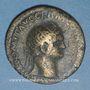 Coins Domitien (81-96). Dupondius. Rome. R/: la Valeur debout à droite