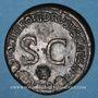 Coins Drusus. Sesterce. Rome, 23. R/: deux cornes d'abondance se croisant
