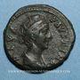 Coins Faustine mère, épouse d'Antonin le Pieux († 141). Dupondius. Rome, après 147. R/: Junon