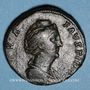 Coins Faustine mère, épouse d'Antonin le Pieux († 141). Sesterce. Rome, après 141. R/: Vesta voilée debout