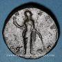 Coins Faustine mère, épouse d'Antonin le Pieux († 141). Sesterce. Rome, après 141. R/: Vesta