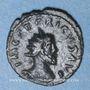 Coins Frappes barbares (vers 270-275). Antoninien. Buste radiée de Tétricus I. R/: la Paix