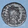 Coins Frappes barbares (vers 270-275). Antoninien. Buste radiée de Tétricus I. R/: Mars debout à gauche