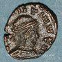 Coins Frappes barbares (vers 307-337). Nummus au nom de Constantin. R/: deux soldats