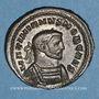 Coins Galère Maximien, césar (293-305). Follis .Londres, 300-301. R/: Génie