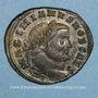 Coins Galère Maximien, césar (293-305). Follis. Ticinum, 3e officine.  300-303. R/ la Monnaie
