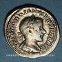 Coins Gordien III le Pieux (238-244). Denier. Rome, 240. R/: Gordien en pacificateur à cheval à g.