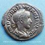 Coins Gordien III le Pieux (238-244). Denier. Rome, 241. R/: Apollon à demi-nu assis à g.