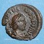 Coins Gratien (367-383). 1/2 centénionalis. Héraclée, 4e officine, 378-383. R/: VOT / XX /MVLT / XXX