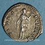Coins Hadrien (117-138). Denier. Rome, 134-138. R/: la Bonne Foi