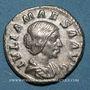 Coins Julia Maésa, grand-mère d'Elagabale († 226). Denier. Rome, 220-222. R/: la Félicité sacrifiant