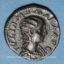 Coins Julia Mamée, mère d'Alexandre Sévère († 235). Denier. Rome, 222. R/: Junon