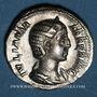 Coins Julia Mamée, mère d'Alexandre Sévère († 235). Denier. Rome, après 235. R/: Junon assise à gauche