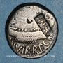 Coins Marc Antoine (vers 83-30 av. J-C). Denier contremarqué MP-VES sous Vespasien